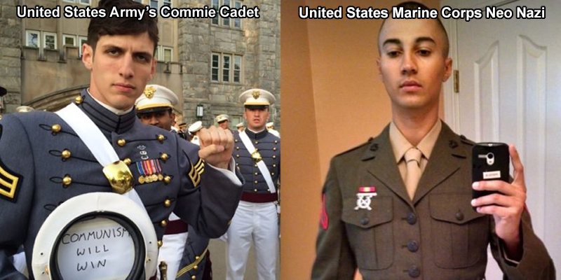 Nut Cases Wearing American Military Uniforms – Commie